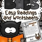 This Thematic Unit contains different sets of Printables including easy reading  passages with facts about bats :  •	What are Bats?  •	What do bats...