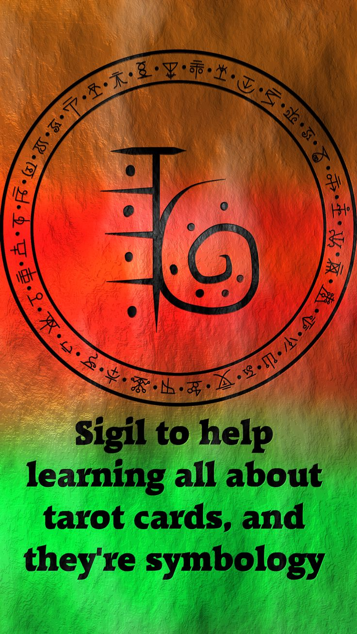 Sigil to help learning all about tarot cards, and they're symbology requested by anonymous