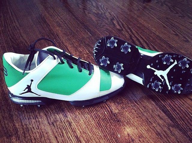 "Air Jordan 11 ""Concord"" Golf Spikes for Keegan Bradley - SneakerNews.com"