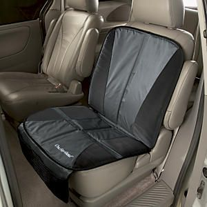 Car Seat Protector for Upholstery: Designed by OSA!  Protect your vehicle's upholstery. Car seats and boosters are tough on upholstery! Most seat covers only guard against spills—our thick, padded shield prevents dents and abrasions to the seat and the backrest, too. The secret? A high rebound foam core. The non-skid bottom and ribbed top keep car seats in place. Includes handy storage pocket, tuck-in flap, and extended panel to shield your backrest.