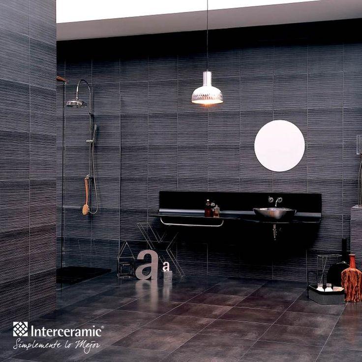 Si tu estilo es una combinación armónica entre lo contemporáneo, moderno y minimalista, la Línea Timber de #Interceramic es para ti. Revestimiento color Iroko Graphite esmaltado.
