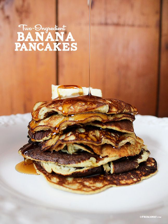 Two Ingredient Banana Pancakes (Gluten Dairy Free) ✔ {very, very sweet...but naturally. great for clean eating!}