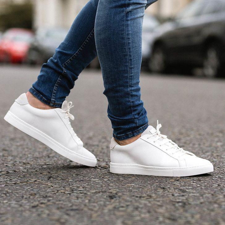 white sneakers, White shoes men