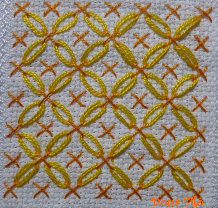 Dona Filó - Ateliê: Bordado - Laranja e Amarelo