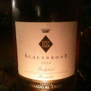 Nice surrpise: a Bolgheri rosé..