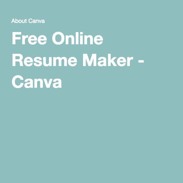 Más de 25 ideas increíbles sobre Online resume maker en Pinterest - free resume maker and print