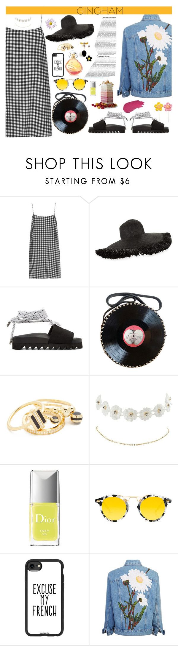 """Gingham Dress"" by simpleautumn ❤ liked on Polyvore featuring Eric Javits, Joshua's, Noir Jewelry, Charlotte Russe, Lumene, Krewe and Casetify"