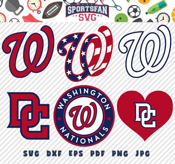 Washington Nationals svg pack- baseball team, baseball league, baseball cut files collection vector clipart digital download  png, jpg, eps by SportsFanSVG on Etsy