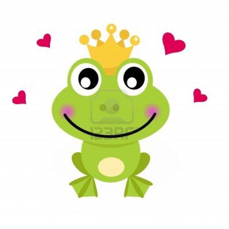 Frog prince. Vector cartoon illustration
