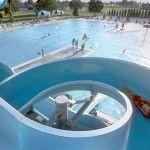 Water slides at The Moses Lake Family Aquatic Center