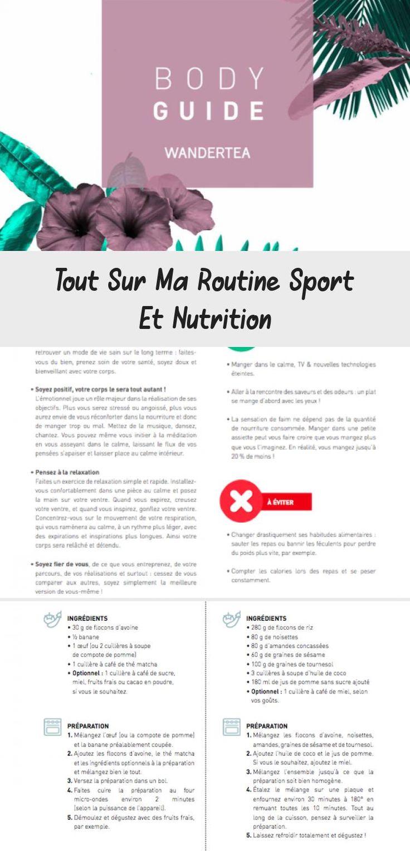 Poser Four Sur Micro Onde tout sur ma routine sport et nutrition | routine, nutrition