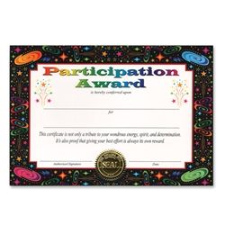 Party Supplies | Certificates | Participation Awards...This Participation Award Certificate Greeting is a great way to reward your students for all their hard work.