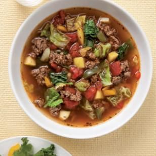 Sweet & Sour Beef-Cabbage Soup Recipe http://www.eatingwell.com/recipes/sweet_sour_beef_cabbage_soup.html#