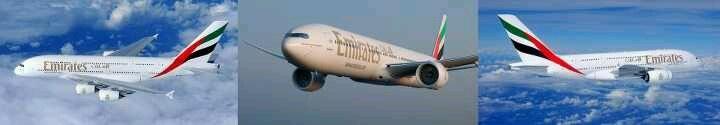 No cualquiera lo hace... Tres mega-entregas en un dia.. 2 A380 (numero 25 y 26 de su tipi en la flota) y 1 B777 (114 de su tipo en la flota).. Es #Emirates!