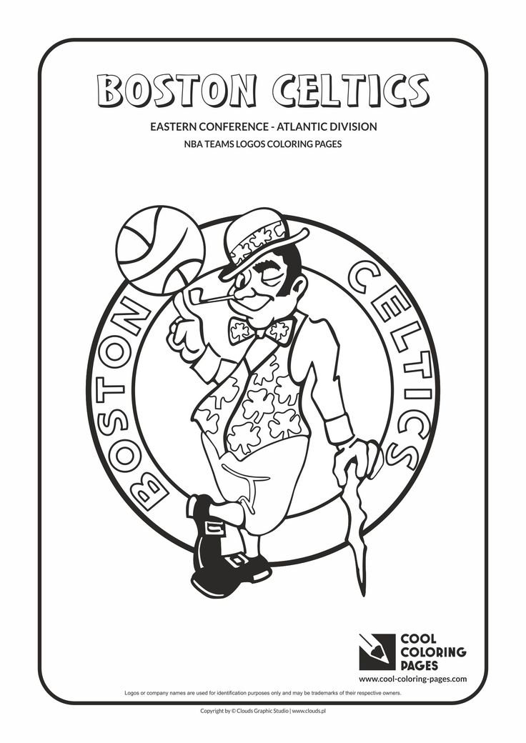 Cool Coloring Pages - NBA Teams Logos / Boston Celtics logo / Coloring page with…