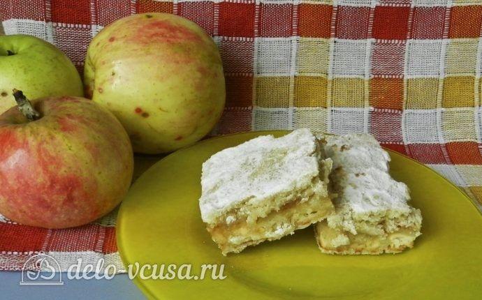 Насыпной пирог с яблоками и творогом https://delo-vcusa.ru/recept/nasypnoj-pirog-s-yablokami-i-tvorogom/ #пирог #яблочный-пирог #насыпной_пирог #деловкуса #готовимсделовкуса #вкусно #рецепты