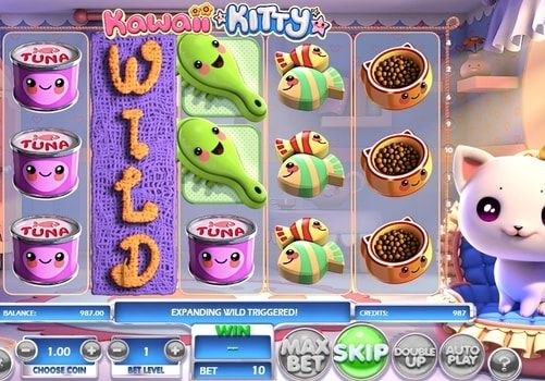 Играть в автомат Kawaii Kitty на деньги с выводом. Kawaii Kitty – оригинальный игровой автомат от компании BetSoft. Этот аппарат понравится всем любителям играть на реальные деньги с выводом, а также поклонникам домашних животных.   Особенности игрового автомата Главным ге�