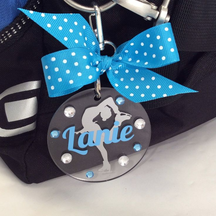 A personal favorite from my Etsy shop https://www.etsy.com/listing/238683119/figure-skater-hair-cutter-bag-tag