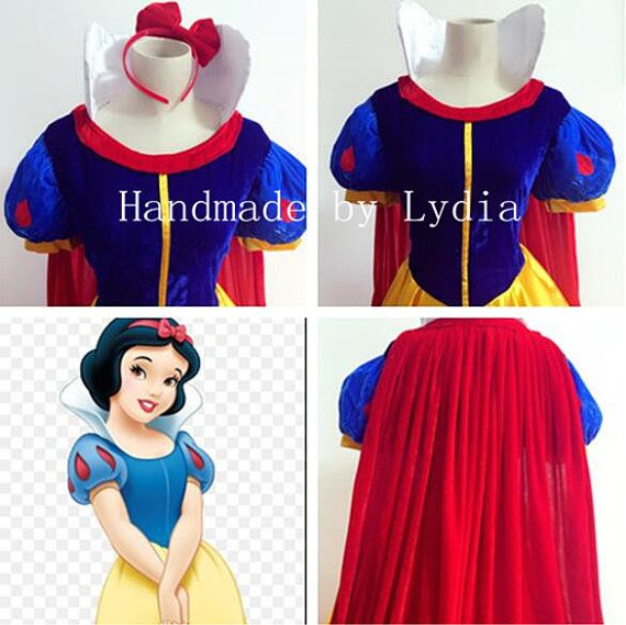 Handmade Snow White Dress Snow White Costume Snow by LydiaCosplay