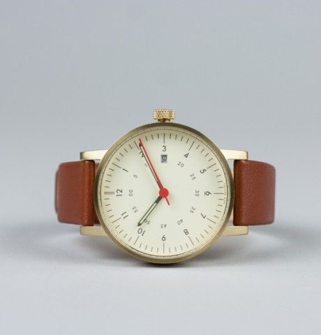 VOID V03D analogue watch gold brown