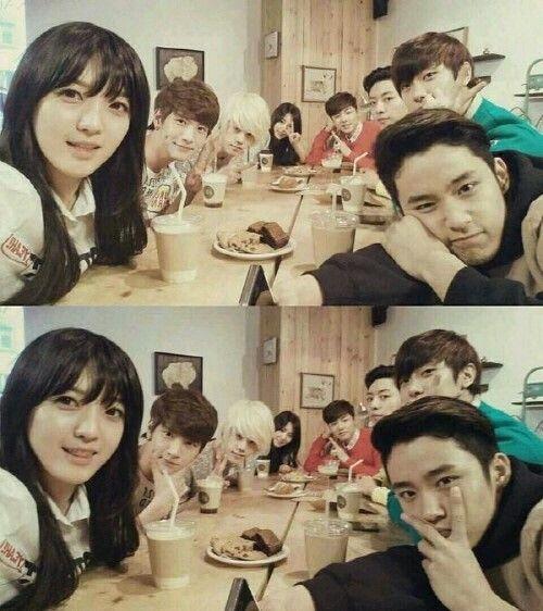 FNC Magnae line (AOA Chanmi Seolhyun, FTI Jaejin Minhwan, CNB Jungshin Minhyuk, NFlying Jaehyun)