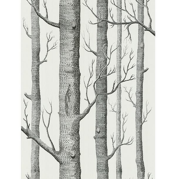 Buy Cole & Son Woods Wallpaper, White / Black, 69/12147 online at JohnLewis.com - John Lewis