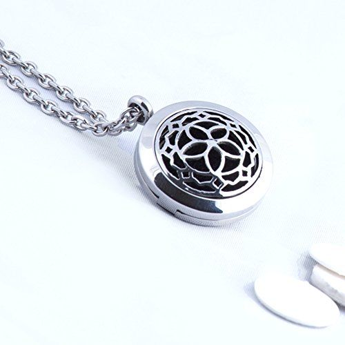 Aromatherapy Essential Oil Diffuser Necklace Jewelry  - 316L Hypoallergenic Stainless Steel