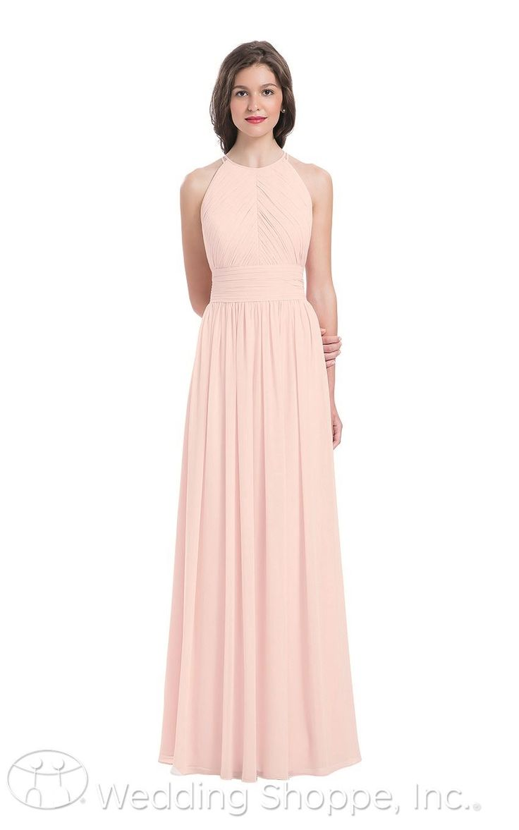 25 best high neck bridesmaid dresses ideas on pinterest natural a stunning soft pink bridesmaid dress with a high neckline and gorgeous back detail ombrellifo Images