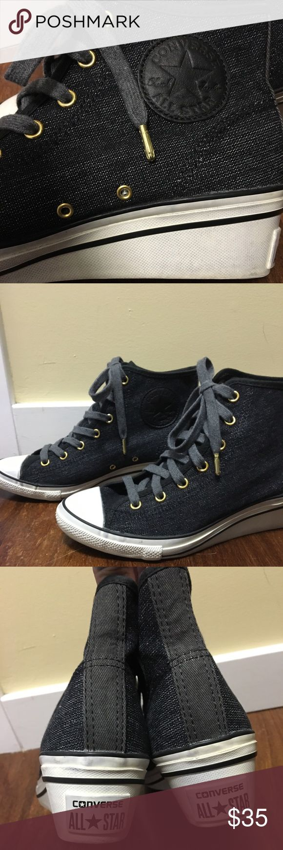 Converse wedge sneakers Super cute converse wedge sneaker. Only worn a few times. Converse Shoes Sneakers