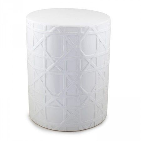 White Ceramic Stool Woven Styled  sc 1 st  Pinterest & 494 best Furniture images on Pinterest | Side tables Stools and ... islam-shia.org