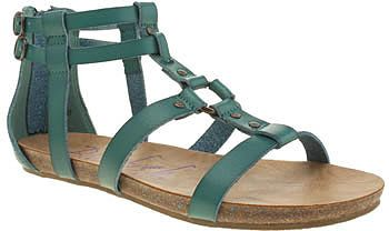 Womens teal blowfish turquoise gotten sandals from Schuh - £45 at ClothingByColour.com