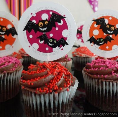 Party Planning Center: Free Printable Halloween Cupcake Topper Decorations