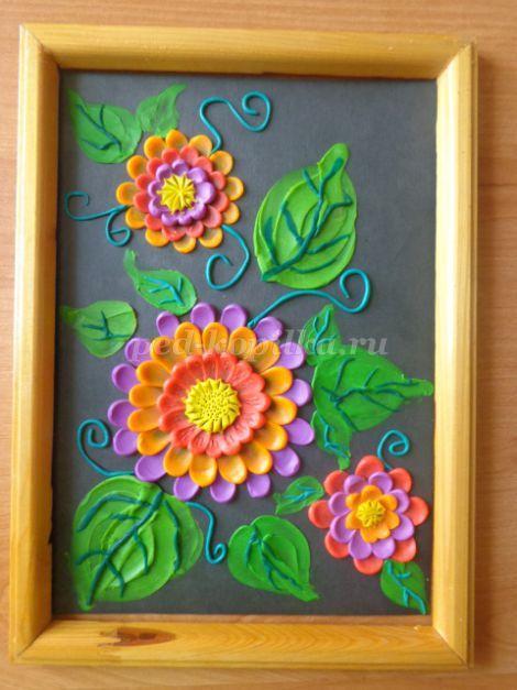 Пластилинография цветы для старших дошкольников