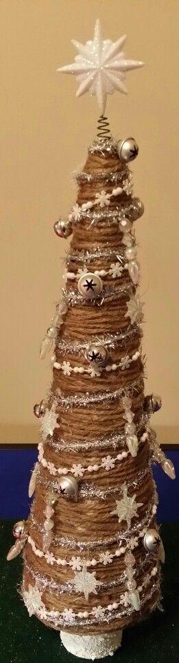 Twine wrapped christmas tree
