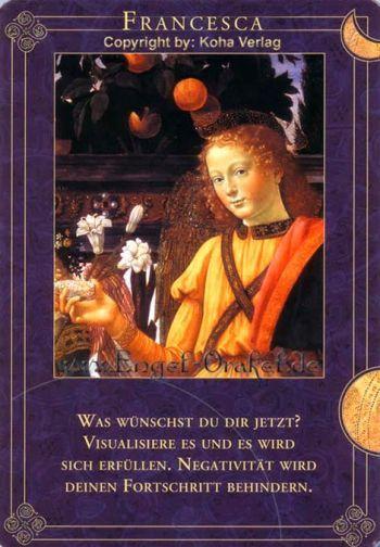 Koha Verlag Karte Ziehen.Engel Francesca Tageskarte Aus Engel Begleiten Deinen Weg