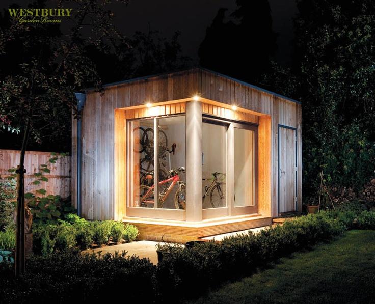 Cedar-clad Garden Rooms by Westbury