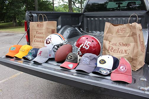 Big Labor Day weekend sale on college gear! Get 2 hats from your favorite college teams for $30. Sale runs August 29 - September 1 at your local Cracker Barrel Gift Shop.