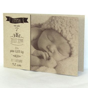 Faire part naissance Vintage baby FN05-VIN-2