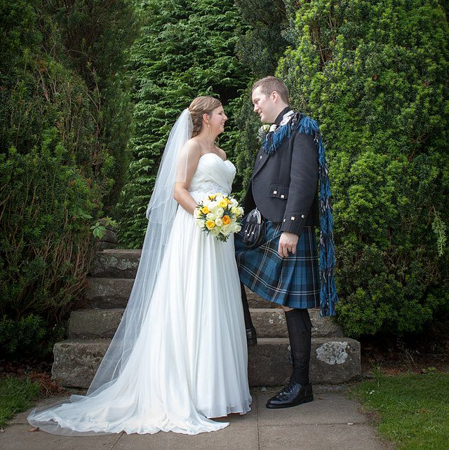 Bride & Groom portraits - Scottish wedding photography