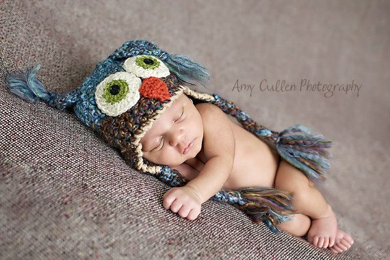 newborn owl hat, etsy, $28. absolutely darling.