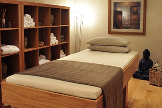 beautiful therapy room from Ameerah Consultancy. Trying to find inspiration for my Beauty Room!!