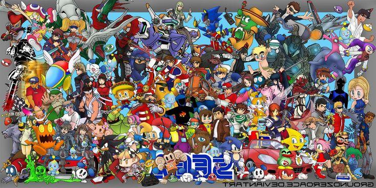 Sega, Video Games, Crossover Wallpaper
