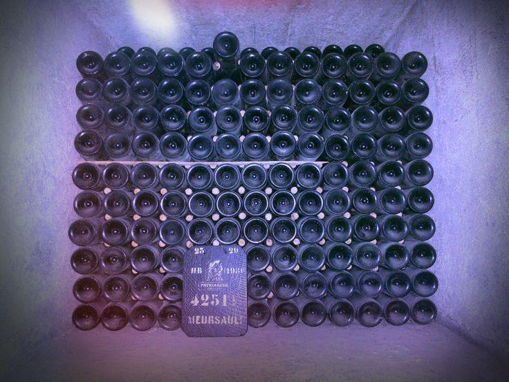 Meursault wine bottles