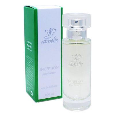 Parfum- Inception  Top: oranje, perzik, meloen  Midden: Bulgaarse lavendel, kaneel  Basis: patchouli uit Indonesië
