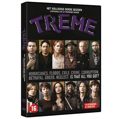 DVD Treme seizoen 3  HBO komt met deze productie die zich afspeelt in Tremé een buurt in New Orleans. Ze laten zien hoe het gaat twee jaar nadat de stad het slachtoffer is geworden van de verwoestende orkaan Katrina.  EUR 24.99  Meer informatie