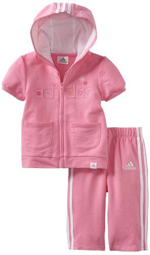 adidas Baby-Girls Infant ITG Clubhouse Short Sleeve Jacket and Pant Set