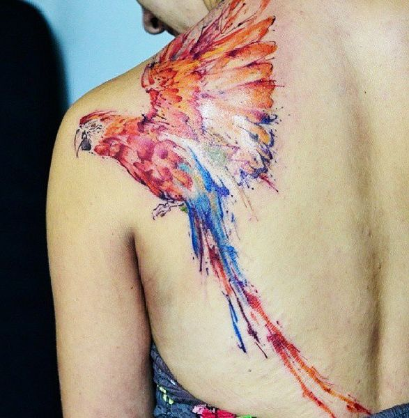 Tattoo ideas for women: Parrot tattoo ideas