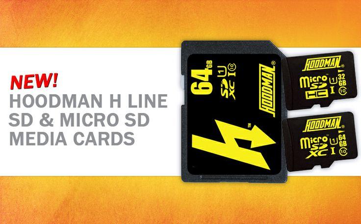 Hoodman H-Line and Micro cards!