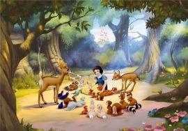 Fototapet Disney Alba ca Zapada si animale