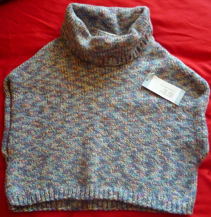 Ladies Hand-knitted Chunky Roll Neck Short Sweater